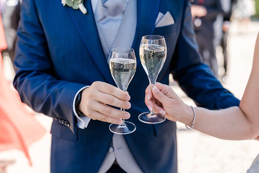 Sektempfang Hochzeit auf Schloss Halbturn