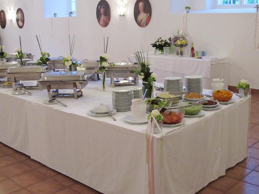 Hochzeit mit Buffet in den Festsälen auf Schloss Halbturn