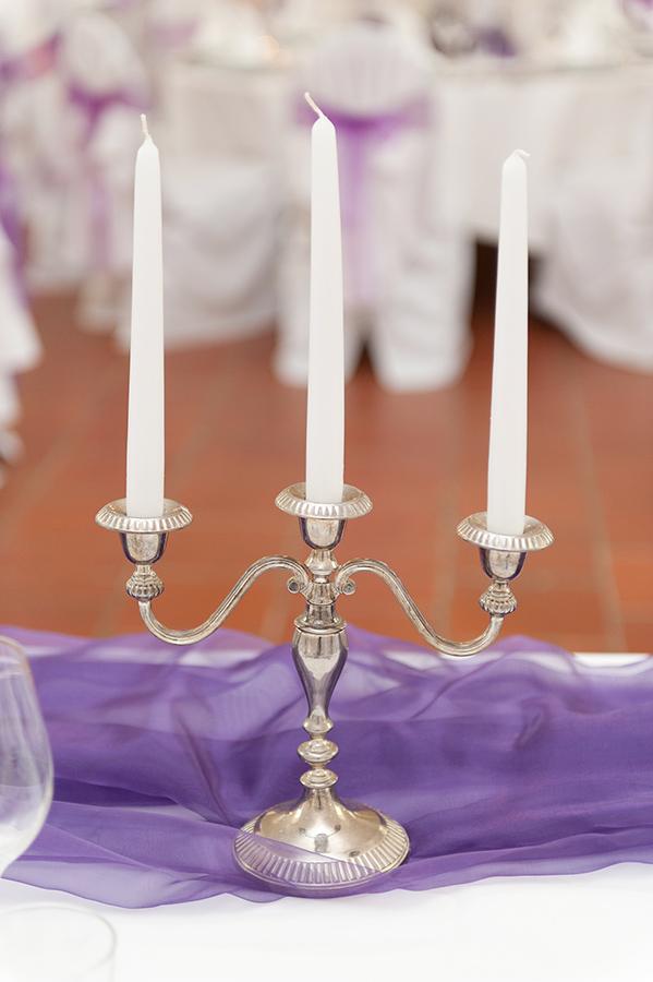 Kerzenständer für Hochzeit auf Schloss Halbturn
