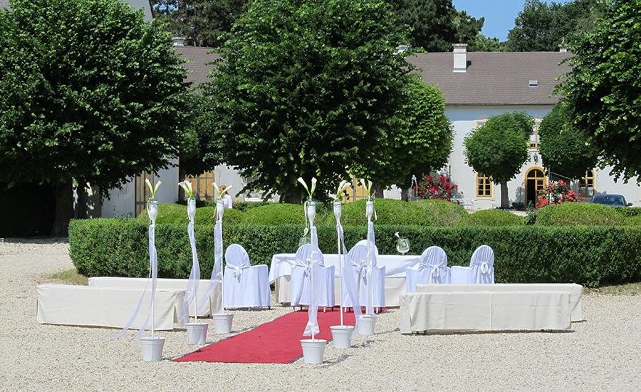 Standesamtliche Hochzeit auf Schloss Halbturn