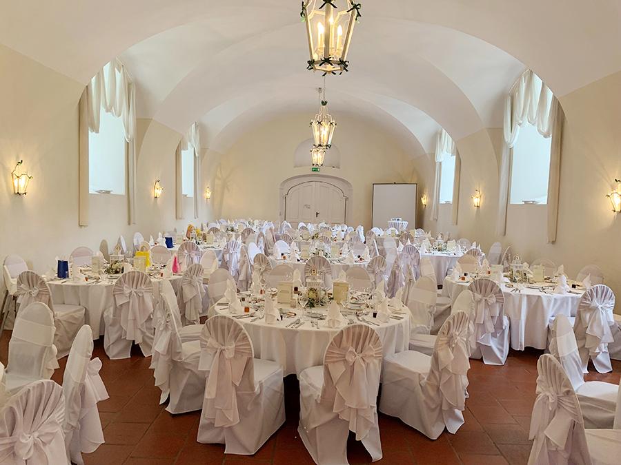 Hochzeit in den Festsälen auf Schloss Halbturn