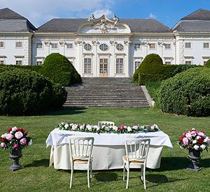 Hochzeit im Barockgarten auf Schloss Halbturn