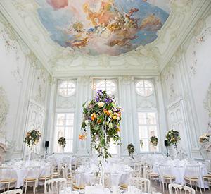 Hochzeit im Freskensaal auf Schloss Halbturn
