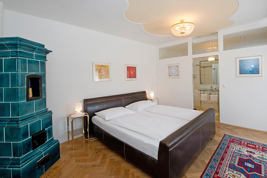 Schloss Halbturn Suite Grand Vin Schlafzimmer