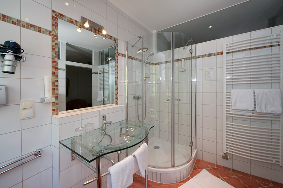Schloss Halbturn Suite Œil de Perdrix Badezimmer