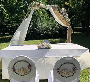 Hochzeit im Schlosspark auf Schloss Halbturn