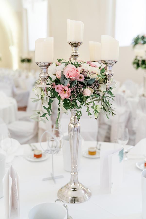 Blumen Dekoration für Hochzeit auf Schloss Halbturn
