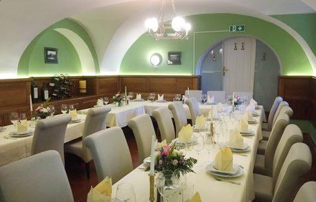 Der Saal NATHALIE im Restaurant Knappenstöckl 1 neu