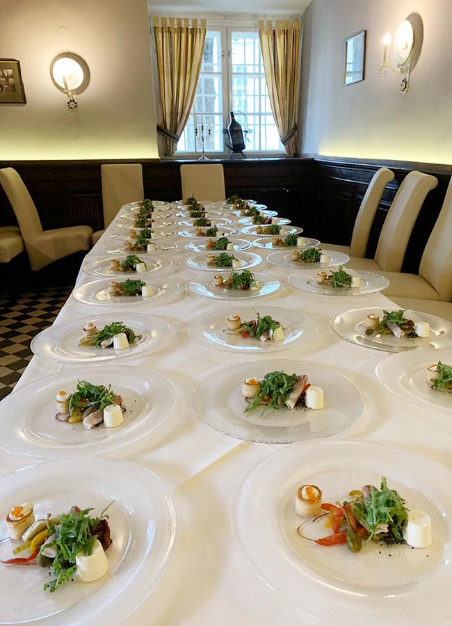 Vorspeisen für Veranstaltung im Restaurant Wieser auf Schloss Halbturn